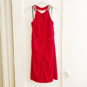 NWT Laundry Shelli Segal Red Halter Dress